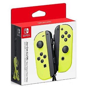 Controle Joy-Con L/R Neon Yellow - Switch
