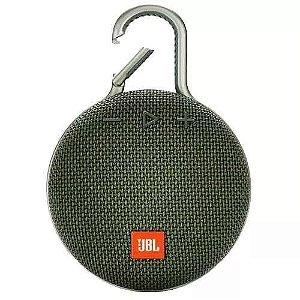 Caixa de Som JBL Clip 3, Bluetooth, À Prova D´Água, 3W, Verde - JBL