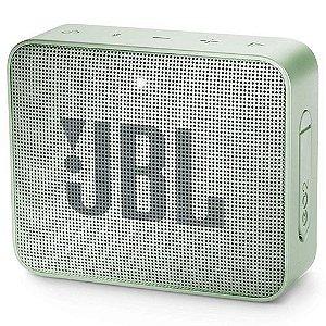 Caixa de Som JBL Go 2, Bluetooth, À Prova D´Água, 3W, Verde - JBL
