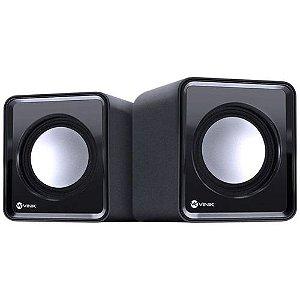 Caixa de som 2.0 USB 5V  2x 1w Controlador de Volume VS01 - Vinik