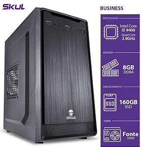 COMPUTADOR BUSINESS B500 - I5-9400 2.9GHZ 8GB DDR4 SSD 160 HDMI/VGA FONTE 350W - B94001608