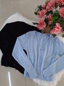 Cardigan em tricot modal.    Tamanho único