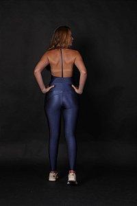 Calça Legging Recortes Cobalto