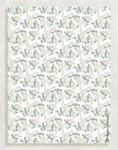Papel Crepom Floral 01 - Folhas - 30 unid