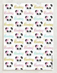 Papel Crepom Infantil 09 - Panda - 30 unid