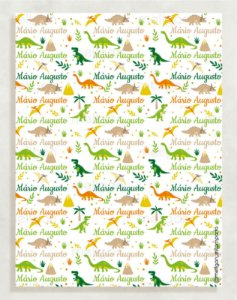 Papel Crepom Infantil 33 - Dinossauros - 30 unid