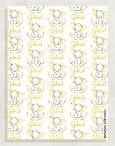 Papel Crepom Maternidade 12 - Elefante - 30 unid