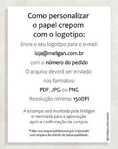 Papel Crepom com logotipo - 30 unid