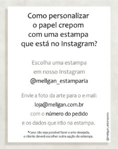 Papel Crepom com estampa do Instagram - 30 unid