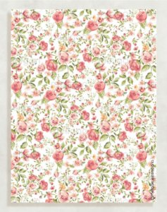 Papel Crepom Floral 06 - Rosé - 30 unid