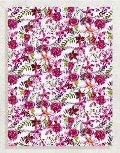 Papel Crepom Floral 07 - Cereja - 30 unid