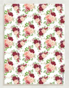 Papel Crepom Floral 08 - Marsala - 30 unid