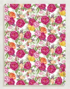 Papel Crepom Floral 10 - Multicor - 30 unid