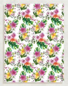 Papel Crepom Floral 11 - Tropical - 30 unid