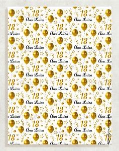 Papel Crepom Aniversário 01 - Balão - 30 unid