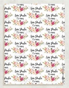 Papel Crepom Aniversário 02 - Floral - 30 unid