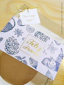 Cinta de Ovo de Páscoa 07 - 7x42cm - Provence - Impressão Metálica - 20 Unid