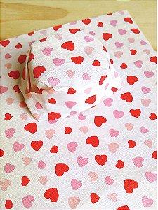 Papel Crepom  Namorados 07 - Corações em Confete - 30 unid