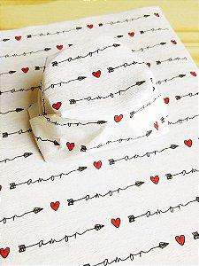 Papel Crepom  Namorados 08 - Flecha Amor - 30 unid