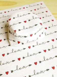 Papel Crepom  Namorados 09 - Flecha Love - 30 unid