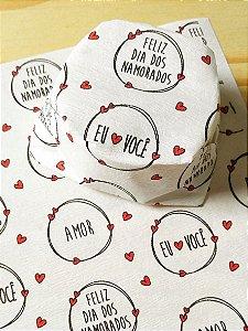 Papel Crepom  Namorados 10 - Mini Corações - 30 unid