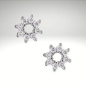 Brinco Circle Diamantes