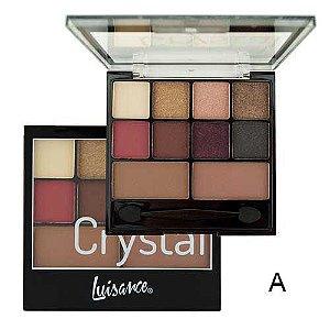 Paleta de Sombra e Contorno Crystal Luisance