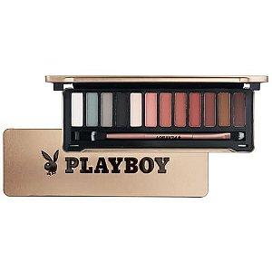 Paleta de sombras matte 12 cores Playboy