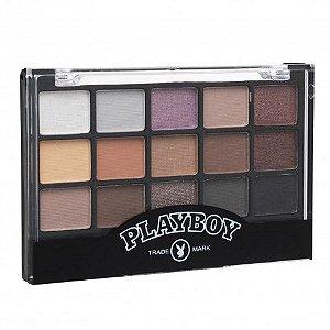 Paleta de Sombras Matte e Cintilante 15 Cores Playboy