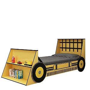 Cama Infantil Solteiro Trator Gelius - Amarelo