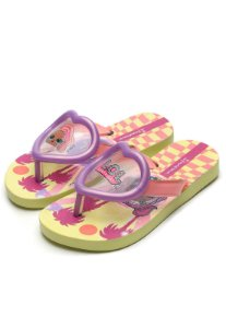 Chinelo Ipanema Kids Infantil  LOL Surprise Summer Lilas/Amarelo