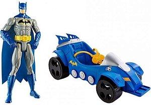 Batman - figura com Batmóvel - Mattel