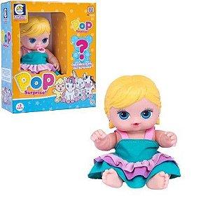 Boneca Pop Surprise Loira Com Vaquinha Cotiplas