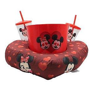 Kit Almofada Zona Criativa Pipoca Copos Emoji - Mickey Minnie