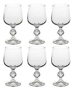 Jogo De Taças De Vinho Em Cristal Bohemia Rojemac 230ml