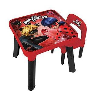 Mesa Com Cadeira Ladybug Barão - Infantil
