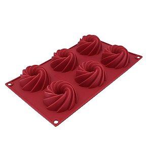 Forma Silicone p/ 6 Flan - Carol Fiorentino - Yangzi