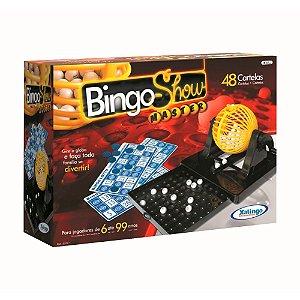 Jogo Bingo Show - 48 Cartelas com Gaveta - Xalingo