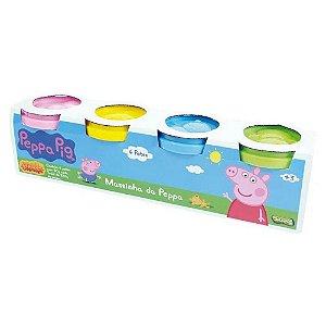 Brinquedo Sunny Massinha da Peppa Pack com 4