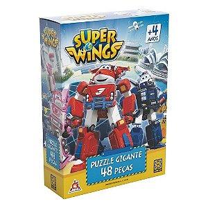 Quebra Cabeça Puzzle 48 Peças Gigante Super Wings - Grow