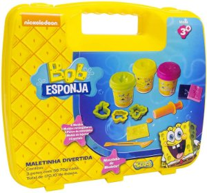 Maleta Divertida do Bob Esponja Massinha Sunny