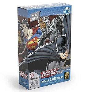 Quebra-Cabeça DC Comics - Liga da Justiça - 100 Peças - Grow