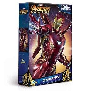 Quebra-Cabeça Vingadores Guerra Infinita - Homem De Ferro - 200 Peças Toyster