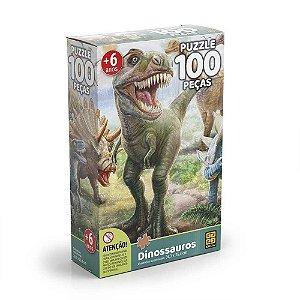 Quebra Cabeça Dinossauros - Grow