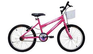 Bicicleta Cairu 20 MTB Super Girl Rosa Pink