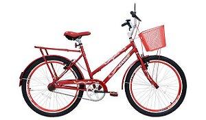 Bicicleta Cairu 24 Genova Personalizada Vermelha