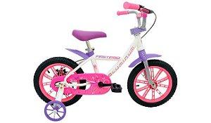 Bicicleta Cairu 14 Fem First Rosa