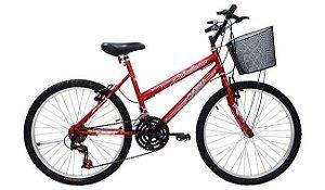 Bicicleta Cairu 24 Bic Vermelho