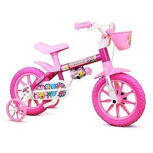 Bicicleta Infantil Aro 12 - Flower - Menina  Nathor