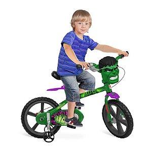 Bicicleta Aro 14 Marvel Avengers  Hulk - Bandeirante